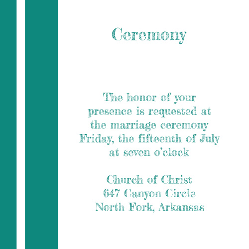 Simple Lines Ceremony Cards