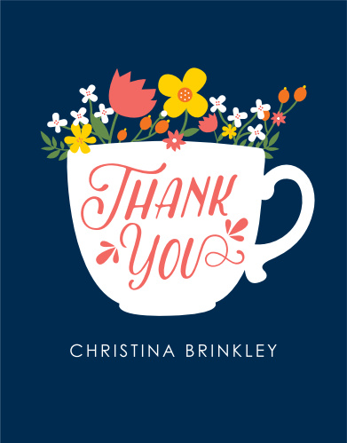 Ladies Tea Bridal Shower Thank You Cards