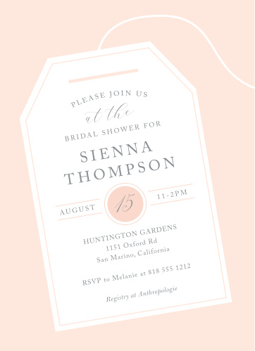 tea tag bridal shower invitations
