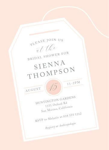 tea tag bridal shower invitations