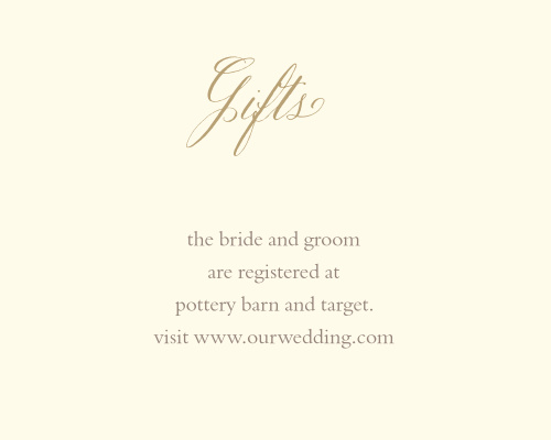 Vines & Leaves Registry Cards
