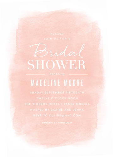 soft paint bridal shower invitations