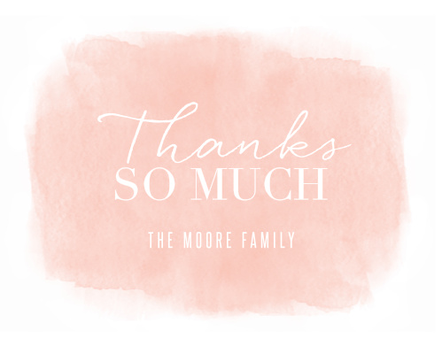Soft Paint Bridal Shower Thank You Cards