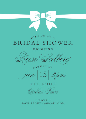 perfect bow bridal shower invitations