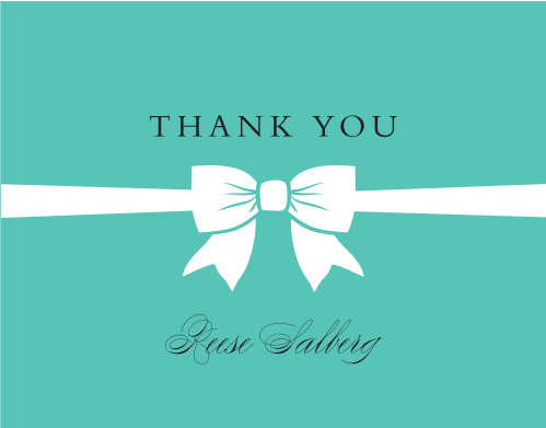 Perfect Bow Bridal Shower Thank You Cards