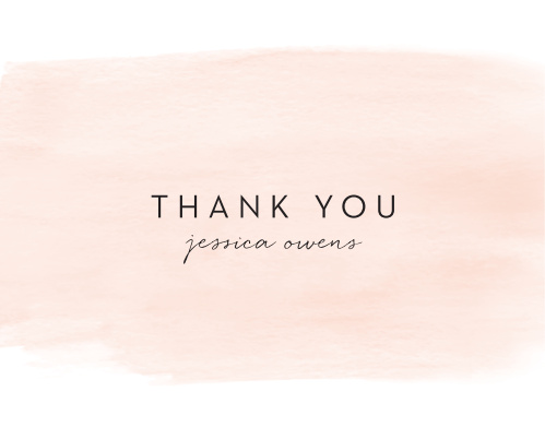 Modern Watercolor Bridal Shower Thank You Cards