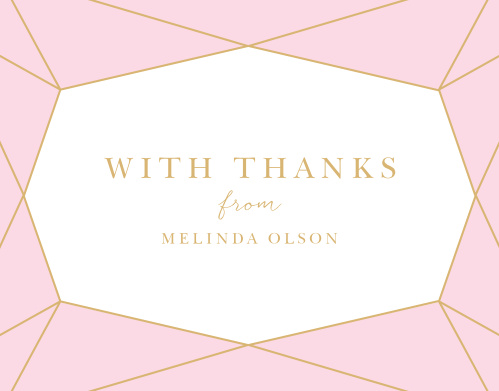Simply Bejeweled Bridal Shower Thank You Cards