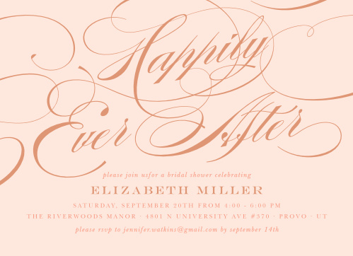 1904cdf4725 Happily Ever After Wedding Invitations - Match Your Color   Style Free!