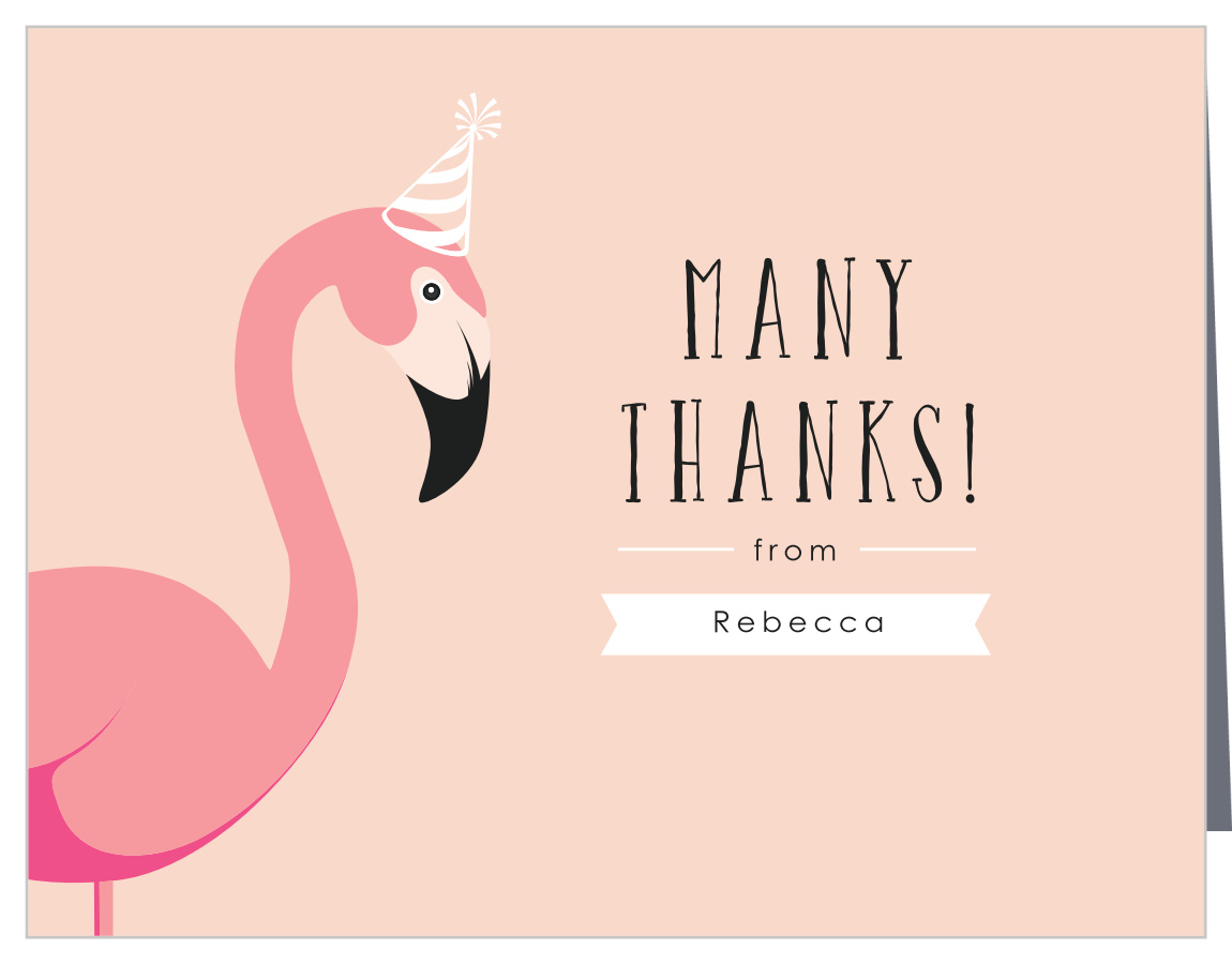 Flamingo Party Children's Birthday Thank You Cards