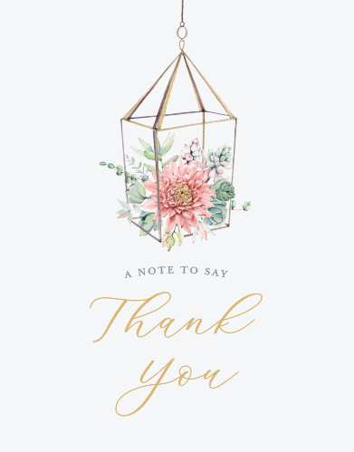 Succulent Brunch Bridal Shower Thank You Cards