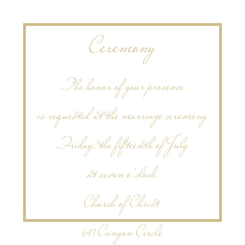 Simple Square Ceremony Cards