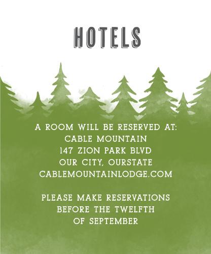Woodsy Wedding Accommodation Cards
