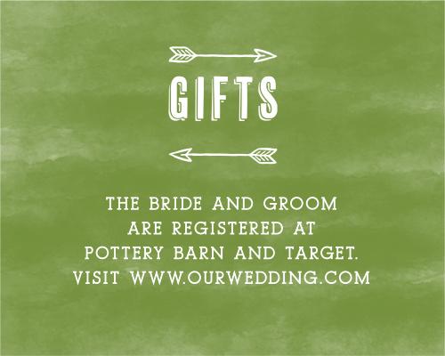 Woodsy Wedding Registry Cards