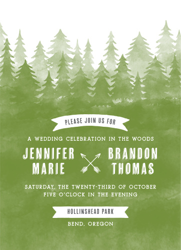 Tree Wedding Invitations Match Your Color Style Free