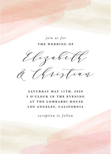 Paint Overlay Wedding Invitations