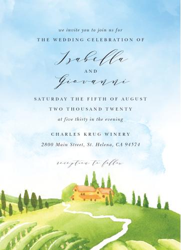 Tuscany Vineyard Wedding Invitations