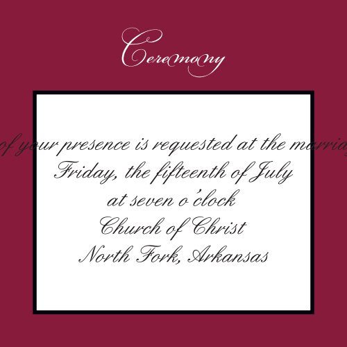 Simply Formal Ceremony Cards