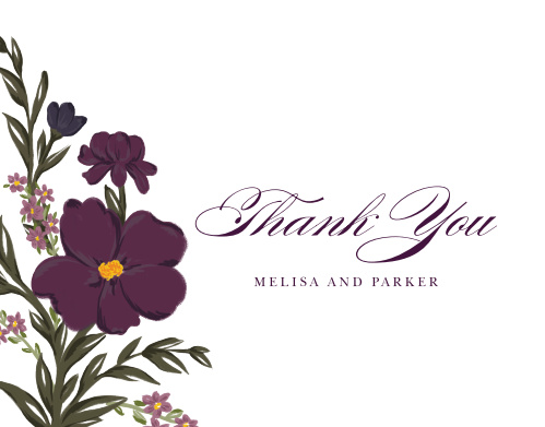 Blooming Frame Wedding Thank You Cards