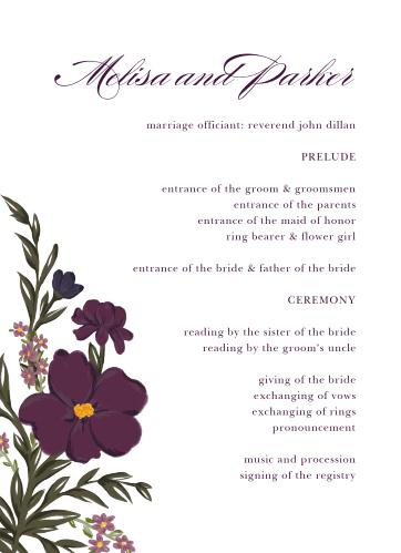 Blooming Frame Wedding Programs