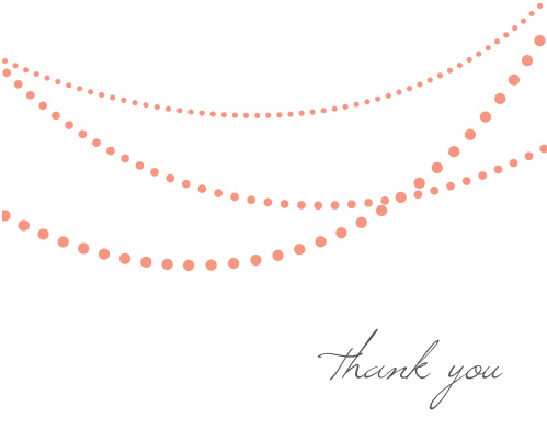 String Lights Thank You Card