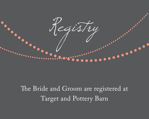 String Lights Registry Cards