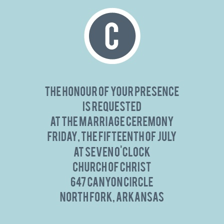 The Circled Monogram Ceremony Cards