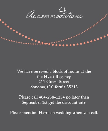 String Lights Accommodation Cards