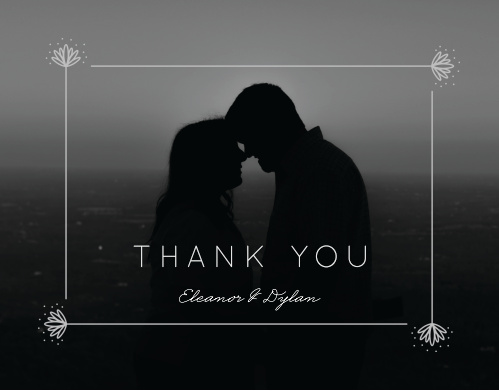 Classic Texture Wedding Thank You Cards