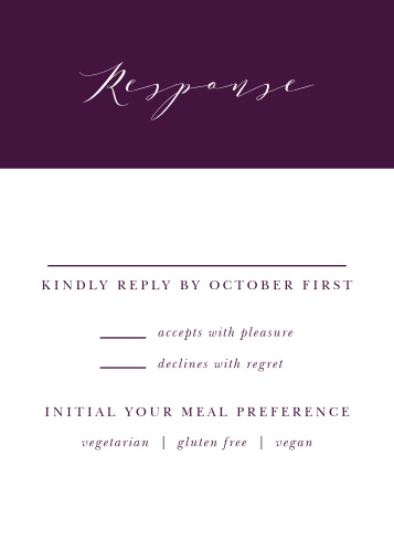 Grape Peonies Response Cards