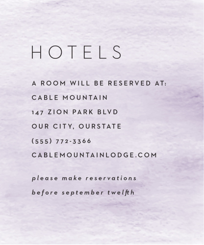 Simple Brushstroke Accommodation Cards