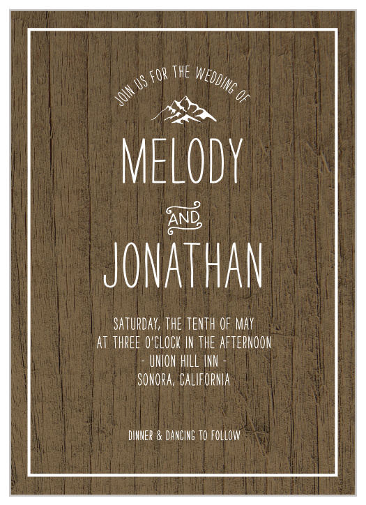 d7f5e44adfb91 Country Wedding Invitations - Match Your Color & Style Free!