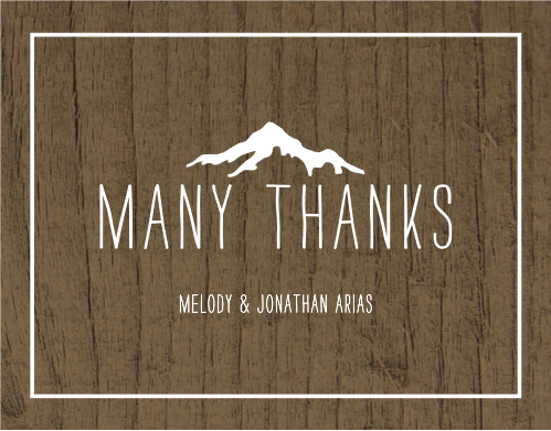 Rustic Union Wedding Thank You Cards