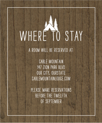 Rustic Union Accommodation Cards
