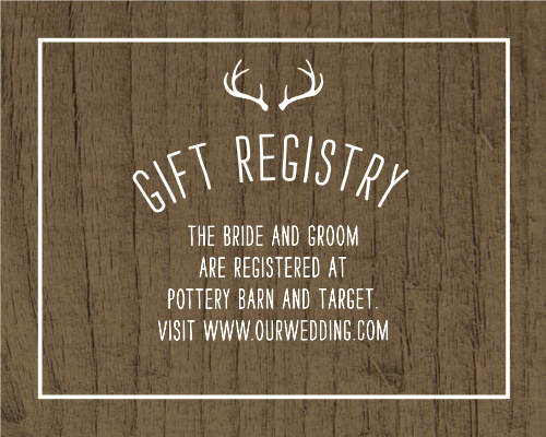 Rustic Union Registry Cards