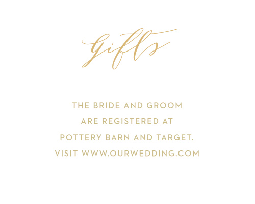 Golden Wildflowers Registry Cards