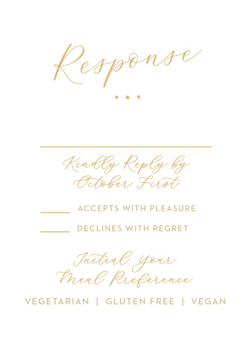 Golden Wildflowers Response Cards