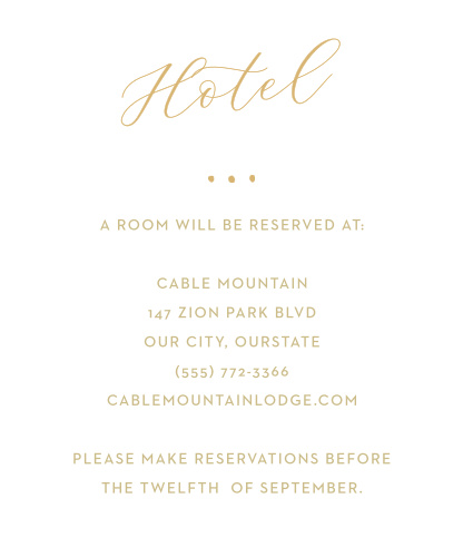 Golden Wildflowers Accommodation Cards