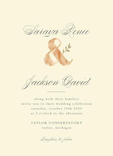 Rustic Ampersand Wedding Invitations