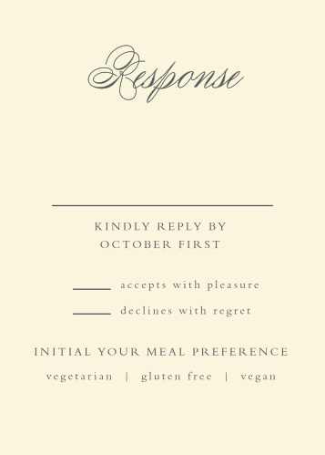 Rustic Ampersand Response Cards