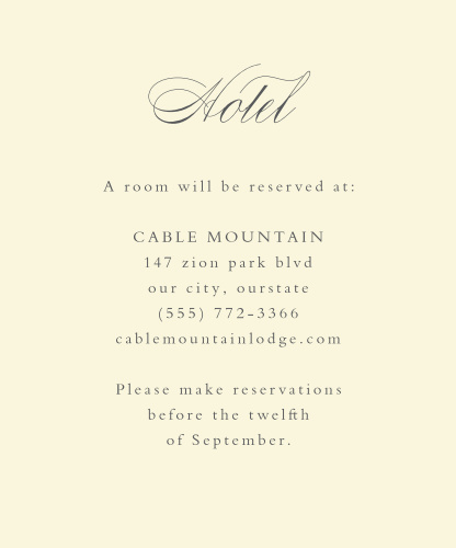 Rustic Ampersand Accommodation Cards