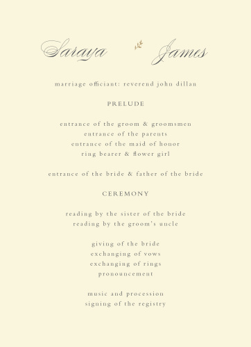 Rustic Ampersand Wedding Programs