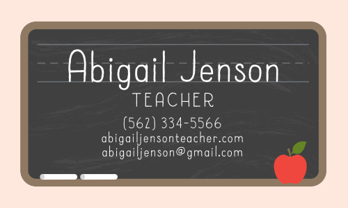 Teacher Business Cards Match Your Color Style Free