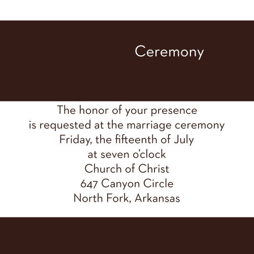 Opaque Love Ceremony Cards