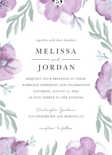 Mauve Medley Wedding Invitations