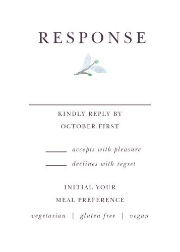 Mauve Medley Response Cards