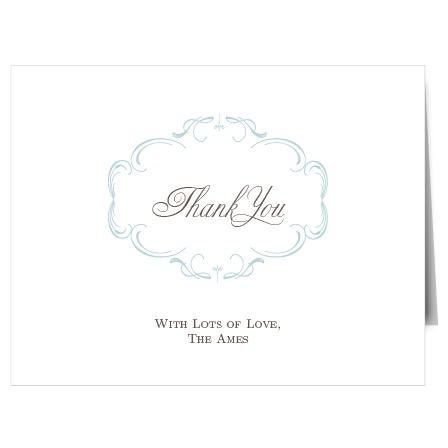 The Flourish Charm Thank You Card