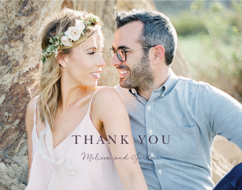 Mauve Medley Wedding Thank You Cards