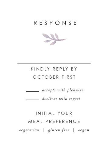 Mauve Florals Response Cards