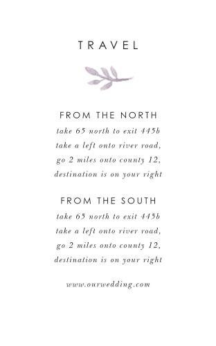 Mauve Florals Direction Cards