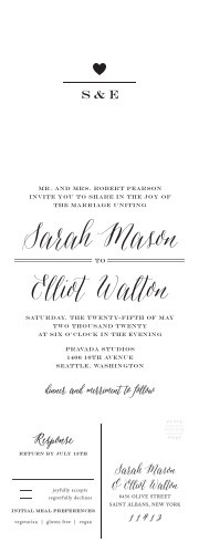 10592f92828c Wedding Invitations With RSVP Cards - Match Your Color   Style Free!